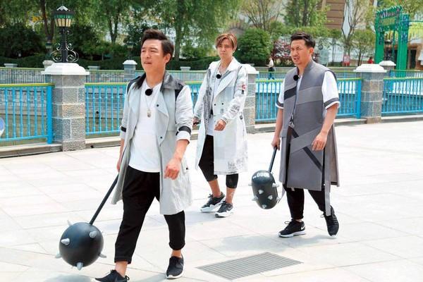 《極限挑戰》節目受歡迎,黃渤(左起)、羅志祥和黃磊功不可沒。
