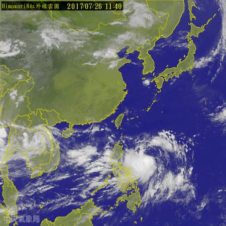 準尼莎颱風。(圖/氣象局)