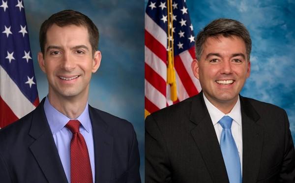 ▲▼美國參議員柯頓(左)與賈德納(右)24日提出《台灣安全法》。(圖/翻攝自維基百科)
