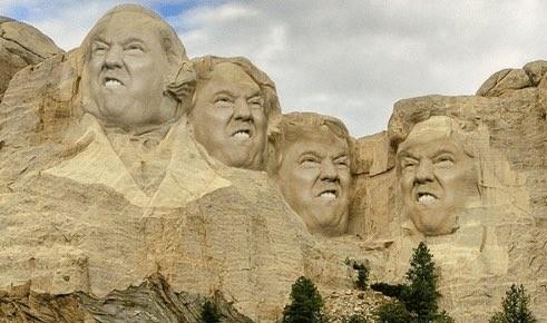 ▲▼網友惡搞美國總統,把川普P在拉什莫爾山(Mount Rushmore,美國總統雕像山)上面。(圖/翻攝自Twitter/J D Weinfeld)