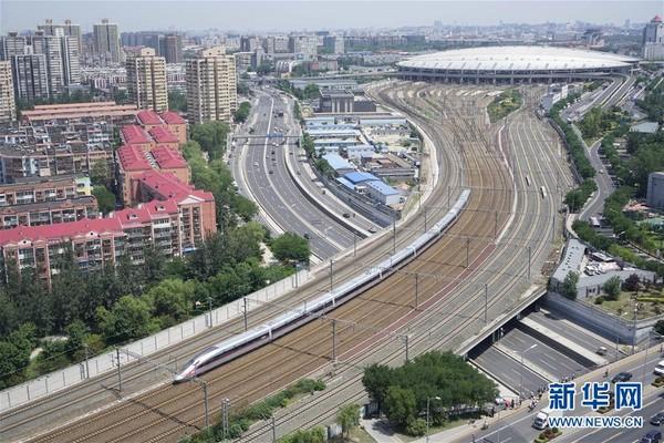 北京到上海只要4小時半!陸「復興號」將加速至350公里。(圖/翻攝自新華社)