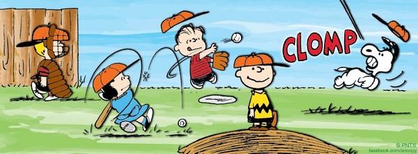 ▲查理布朗與他的棒球隊員。(圖/翻攝自Snoopy臉書)