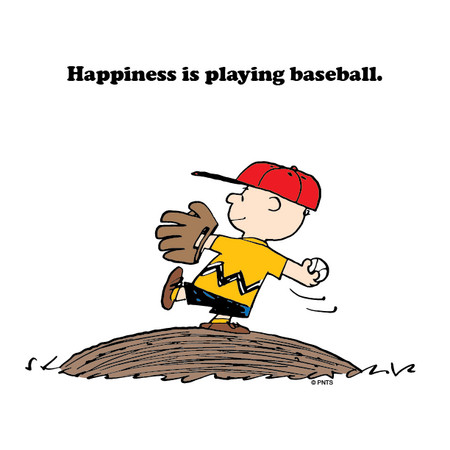 ▲即使再輸,查理還是愛著棒球。(圖/翻攝自Snoopy臉書)