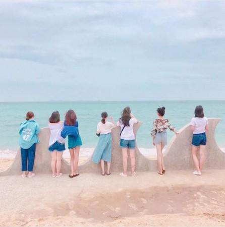 澎湖海景,網垵口沙灘 。(圖/IG@bwwoooo提供,請勿任意翻攝以免侵權)
