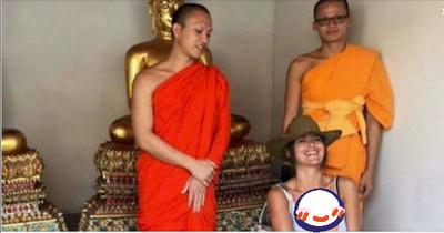 泰國和尚招待女觀光客,但拍完照後「秒毀10年修行」