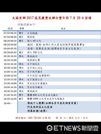原訂7月29日太麻里鄉感恩慶豐收聯合豐年祭活動因受尼莎颱風影響延至8月5日辦理。(圖/太麻里鄉公所提供)