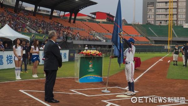 ▲U12世界盃少棒賽,陽念祖宣誓。(圖/記者顏如玉攝)