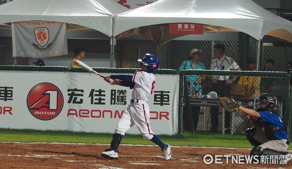 ▲U12世界盃少棒賽,中華隊簡煜恩。(圖/記者顏如玉攝)