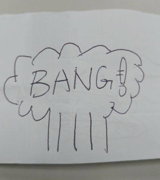 漫畫中「爆炸」到底怎麼畫的?簡單3步驟教你脫離放屁線條(翻攝自推特@makaidaibouken4)