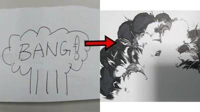 漫畫中「爆炸」到底怎麼畫的?簡單3步驟教你脫離放屁線條