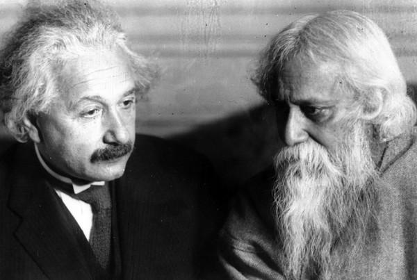 ▲▼泰戈爾與愛因斯坦。(圖/達志影像/美聯社)