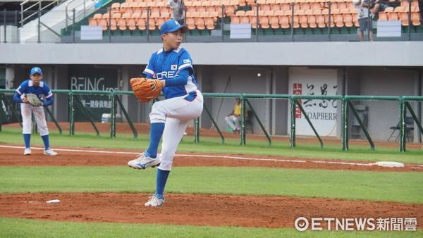 ▲U12世界少棒,韓國投手。(圖/記者顏如玉攝)