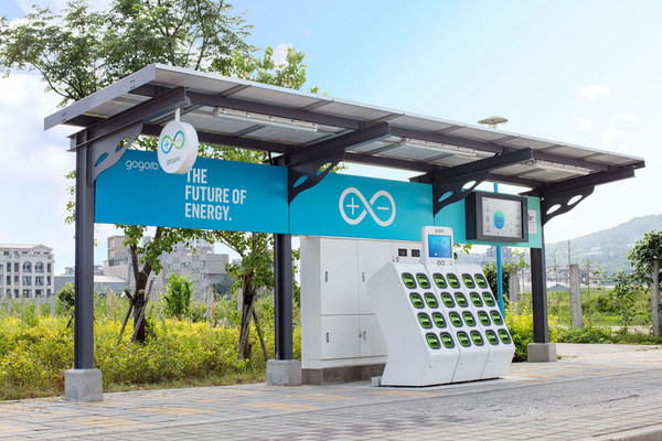 ▲零污染移動更近了!Gogoro太陽能換電站八里啟動。(圖/業者Gogoro提供)