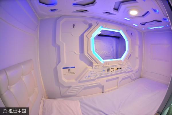 ▲中國膠囊旅館「享睡空間」。(圖/視覺中國)