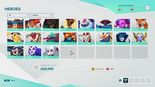 目前遊戲中推出的全角色