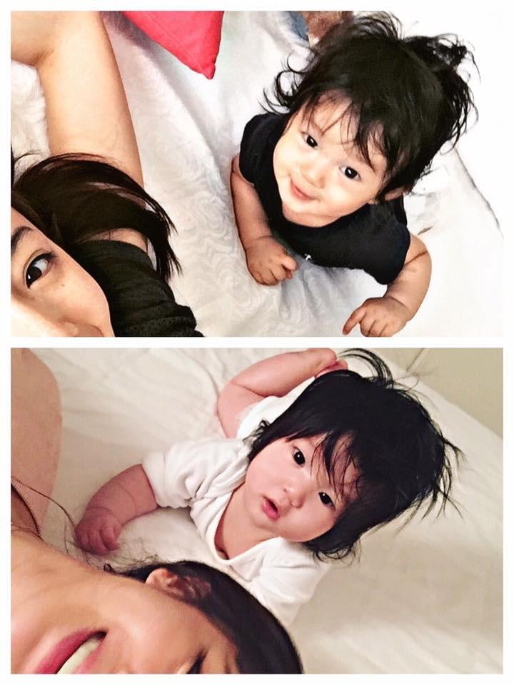 ▲▼Lucy連頭髮亂都像Max根本雙胞胎。(圖/翻攝自隋棠臉書)