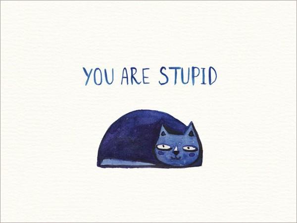 ▲來自可愛動物的惡毒訊息卡片(圖/翻攝自Facebook, society6)