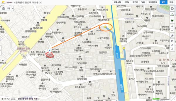 ▲《超人回來了》flip book拍攝地點。(圖/翻攝自Naver地圖)