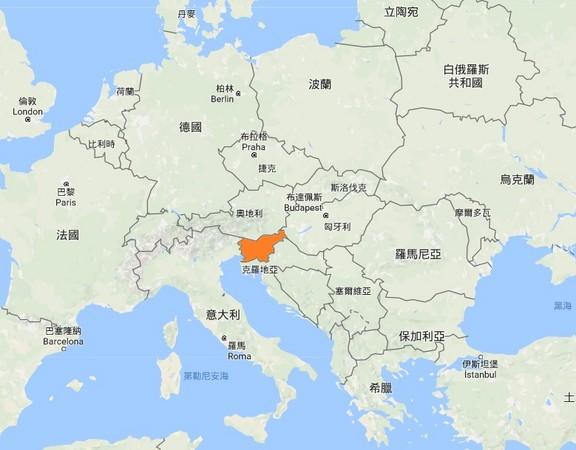 ▲▼斯洛維尼亞(Slovenija)為第一夫人梅蘭妮亞的故鄉。(圖/翻攝自google map)