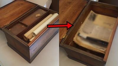 爺爺破舊木盒驚見「150年前遺物」 泛黃紙每張都是活過的證據