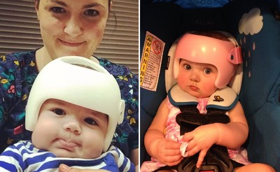 一張「安全帽全家福」照,引來網友大曬「大同寶寶」