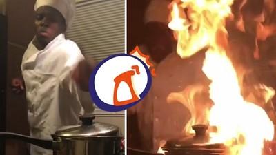 這下悲劇了!炸薯條炸出「廚房燃燒瞬間」,兩個腦殘動作搞砸一切