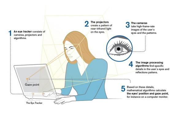 ▲專門研發眼球追蹤技術的《Tobii》其操作運行示意。 (圖/翻攝自官網)