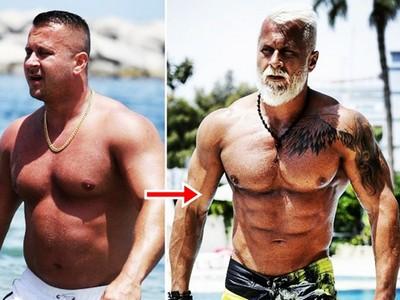 十年油肚進化六塊肌 「波蘭筋肉大叔」越老越帥