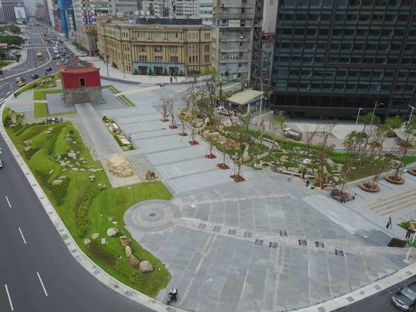 ▲擴增為3倍大之嶄新北門廣場。(圖/臺北市政府提供)