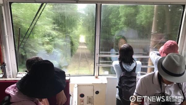 ▲茨城縣筑波山登山電車、筑波山神社。(圖/記者賴文萱攝)