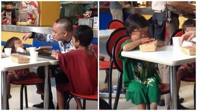 好心人請吃飯 乞討小孩「嗑兩口就停」剩下要給媽媽吃