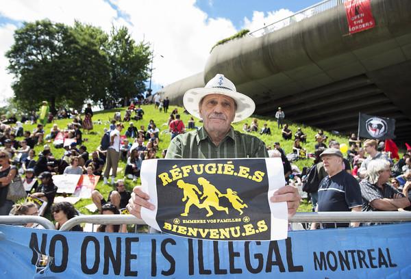 ▲▼從美國湧入加拿大尋求庇護者。(圖/達志影像/美聯社)