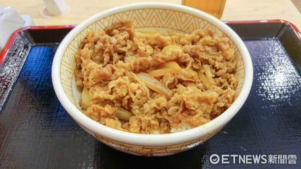 ▲▼すき家牛丼飯 。(圖/記者黃士原攝)