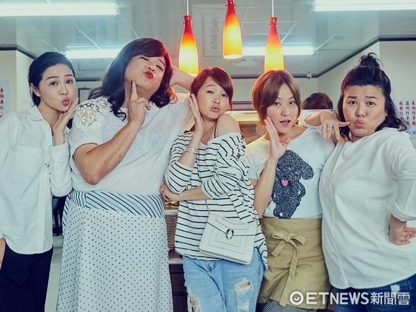 ▲(左起)謝盈萱、瞿友寧、六月、海裕芬、林美秀。(圖/海芬工作室)
