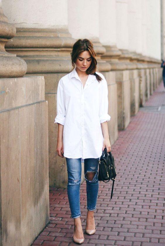 白襯衫穿搭術(圖/網路翻拍)https://www.pinterest.com/search/pins/?q=shirt white&rs=typed&term_meta[]=shirt|typed&term_meta[]=white|typed