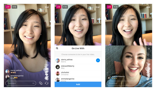 Instagram雙人直播登場,大唱雙簧不寂寞!(圖/翻攝自官網)