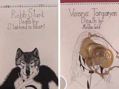 鐵粉手繪還原「冰與火之歌」!劇迷含淚回顧35位角色死法