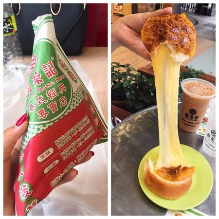 楓茶記—冰火菠蘿油。(圖/網友ig bm_1207 、iamirenesu  提供,請勿任意翻攝,以免侵權。)