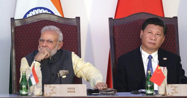 ▲▼中國國家主席習近平(右)和印度總理莫迪(左)。(圖/達志影像/美聯社)