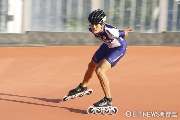 ▲▼世大運滑輪溜冰台北賽場練習,陳彥成。(圖/記者黃克翔攝)