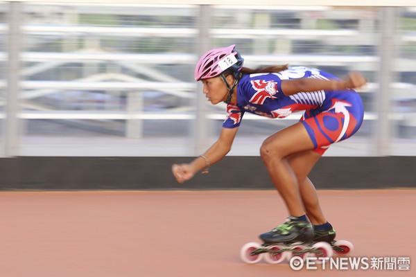 ▲▼世大運滑輪溜冰台北賽場練習,李孟竹。(圖/記者黃克翔攝)