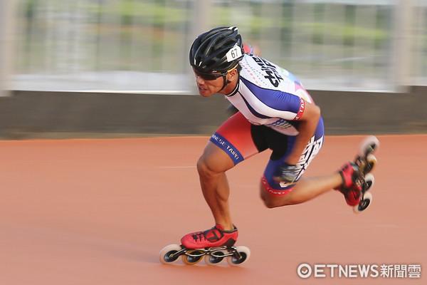 ▲▼世大運滑輪溜冰台北賽場練習,高茂傑。(圖/記者黃克翔攝)