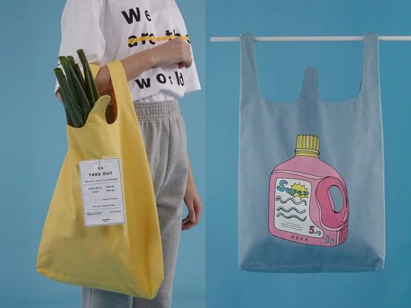 ▲拎「購物袋」讓造型加分(圖/翻攝自www.pinterest.se)