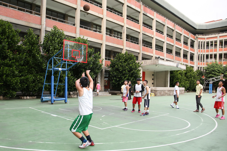校園,學生,體育,籃球,籃球場,高中,運動,青少年,高中生(圖/記者周宸亘攝)