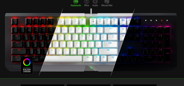 換色再出發!Razer針對旗下電競配件推出灰白雙新色。(圖/翻攝自官網)