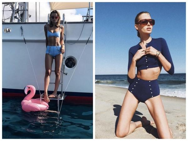 ▲今夏泳裝流行復古高腰風 超模坎達兒、希臘公主搶先穿。(圖/翻攝自lisamariefernandez IG)