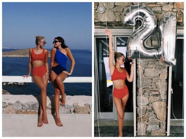 ▲今夏泳裝流行復古高腰風 超模坎達兒、希臘公主搶先穿。(圖/翻攝自olympiagreece IG)