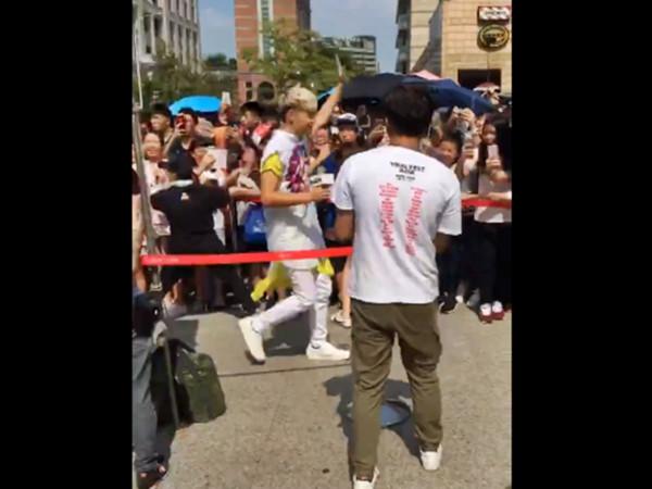 ▲▼聖結石台北簽唱…尖叫「林俊傑我愛你」!JJ粉笑吐血:很難受。(圖/翻攝臉書徐健耀)