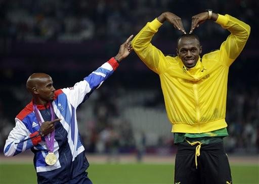 ▲Mo Farah,Usain Bolt(圖/達志影像/美聯社)