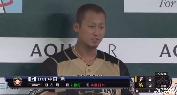 ▲中田翔。(圖/截自太平洋聯盟TV)